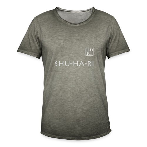 Shuhari HDKI white - Men's Vintage T-Shirt