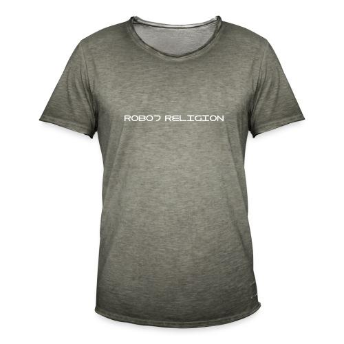Robot Religion Text - Men's Vintage T-Shirt