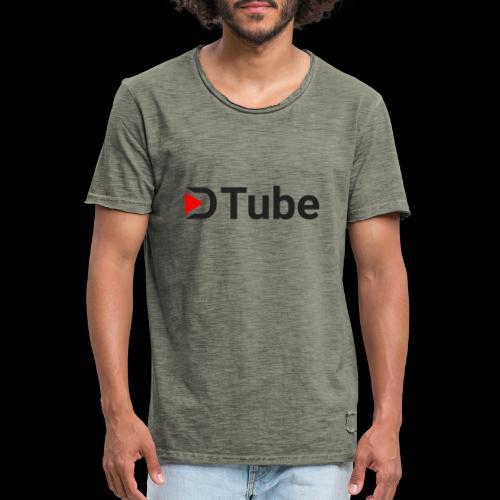 DTube logo - Männer Vintage T-Shirt