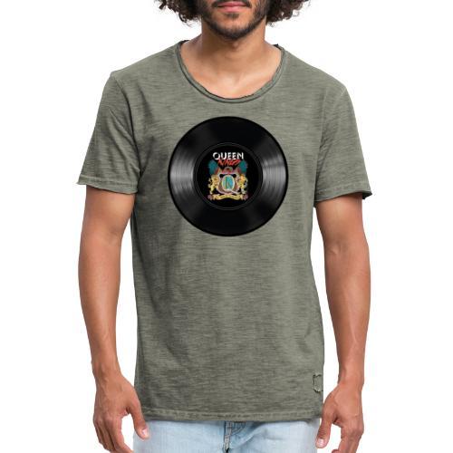 Vinyl - Männer Vintage T-Shirt