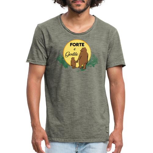 Forte e gentile - Maglietta vintage da uomo