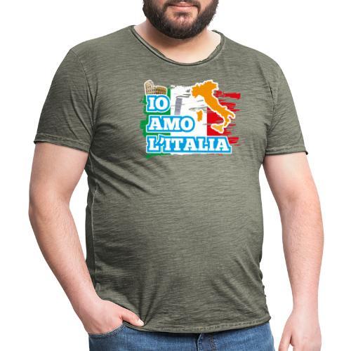 ITALY - Io Amo L'Italia - Maglietta vintage da uomo