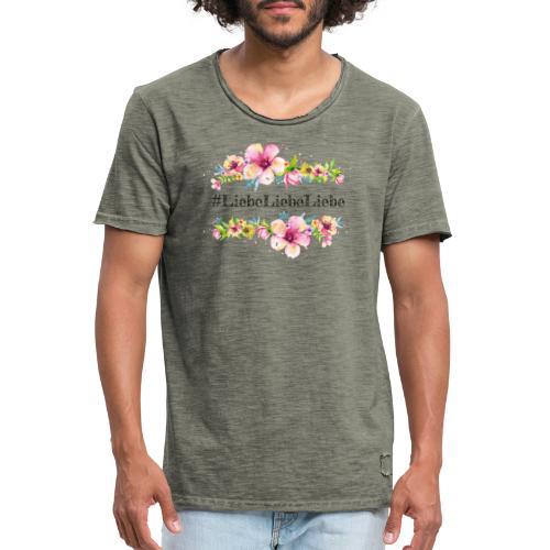 liebeliebeliebe - Männer Vintage T-Shirt