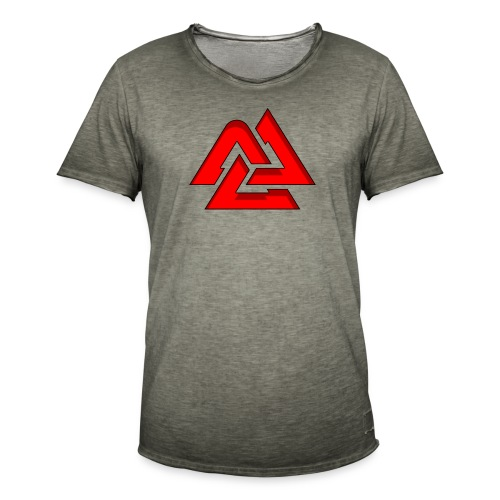 Valknut logo - Vintage-T-shirt herr