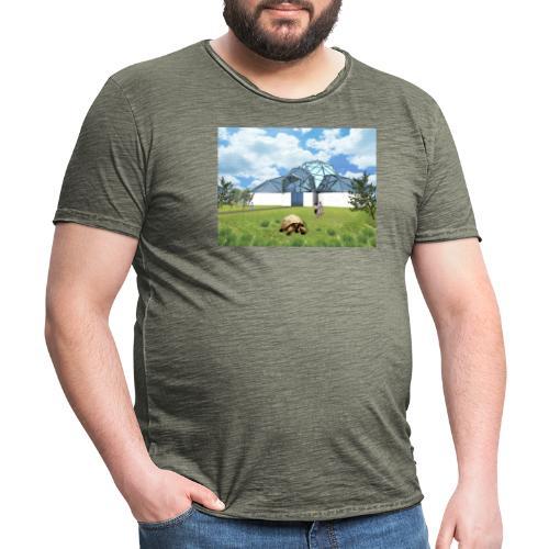 Wizualizacja żółwiarium - Koszulka męska vintage