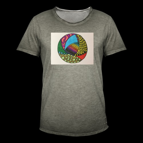 circle corlor - Herre vintage T-shirt