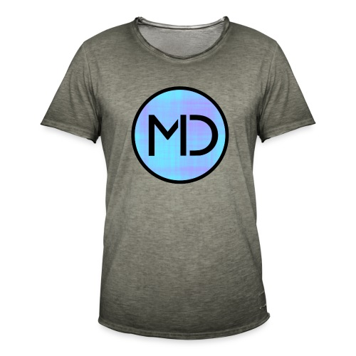 MD Blue Fibre Trans - Men's Vintage T-Shirt