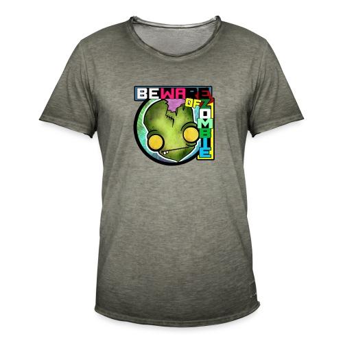 Beware of zombie - Camiseta vintage hombre