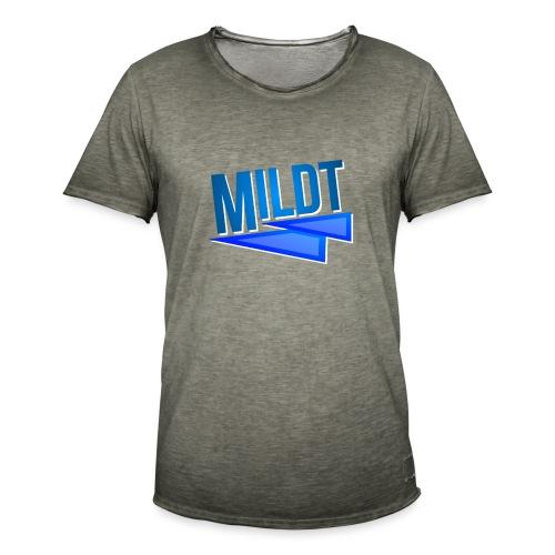 MILDT Normale Mannen Shirt - Mannen Vintage T-shirt