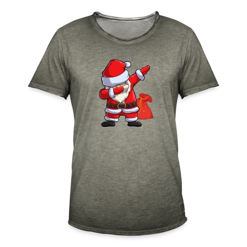 Dabbing santa - T-shirt vintage Homme