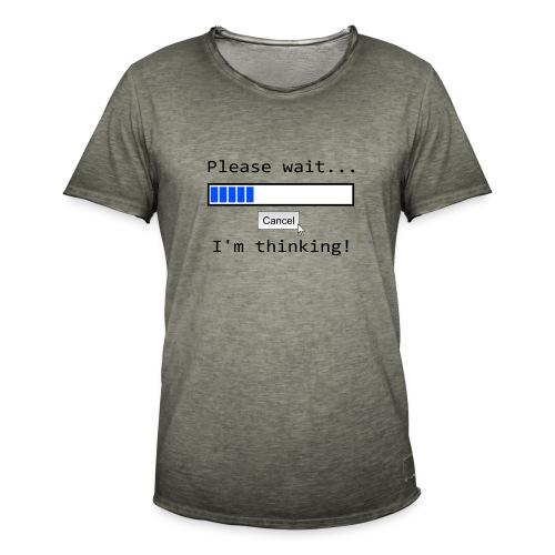 Bitte warten - Männer Vintage T-Shirt