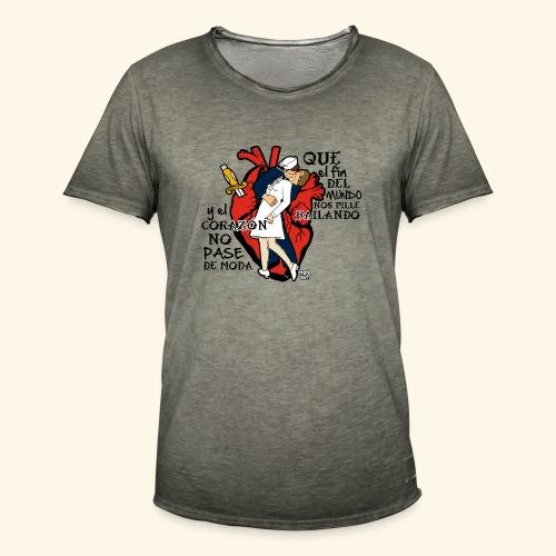 FAMOUS KISS - Camiseta vintage hombre