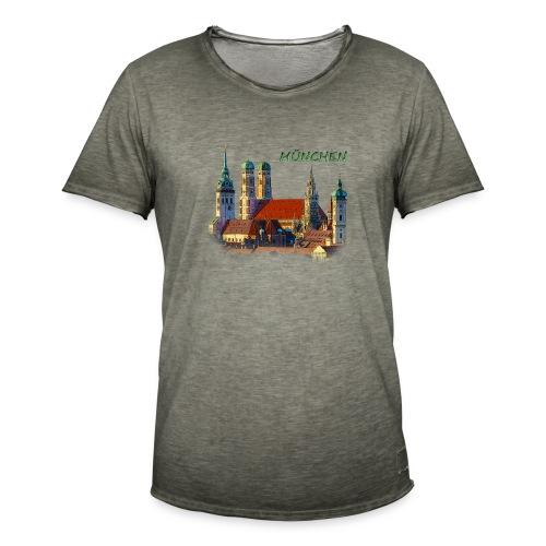 München Frauenkirche - Männer Vintage T-Shirt