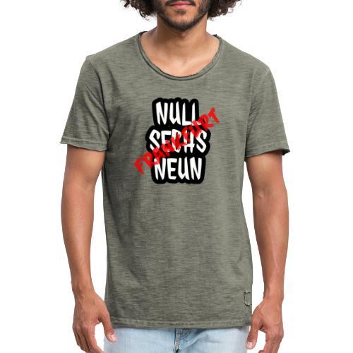 FRANKFURT RED - Männer Vintage T-Shirt
