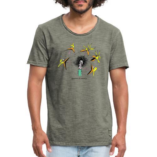 Pájaros vs Humano - Camiseta vintage hombre