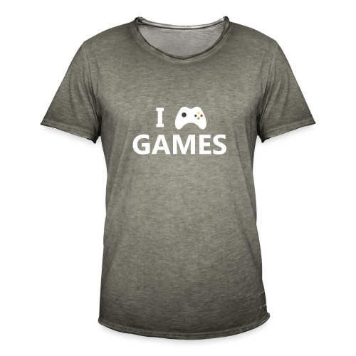 I Love Games 2 - Camiseta vintage hombre