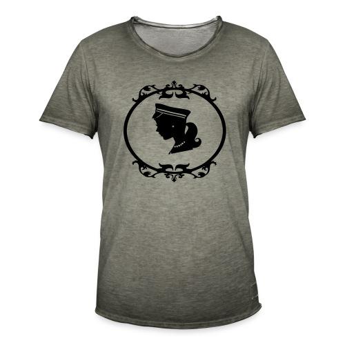 Mädel oval 1 farbig - Männer Vintage T-Shirt