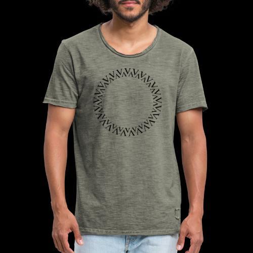 Kreis - Männer Vintage T-Shirt