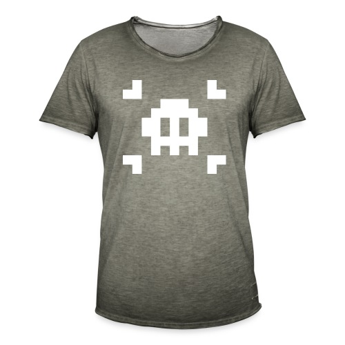 Pixel Skull - T-shirt vintage Homme