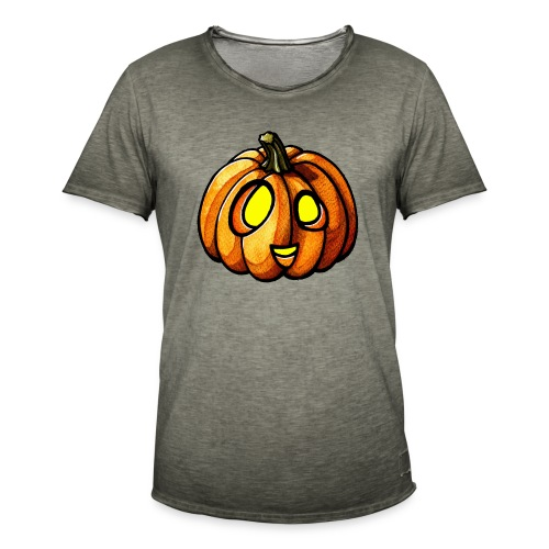 Pumpkin Halloween watercolor scribblesirii - Männer Vintage T-Shirt