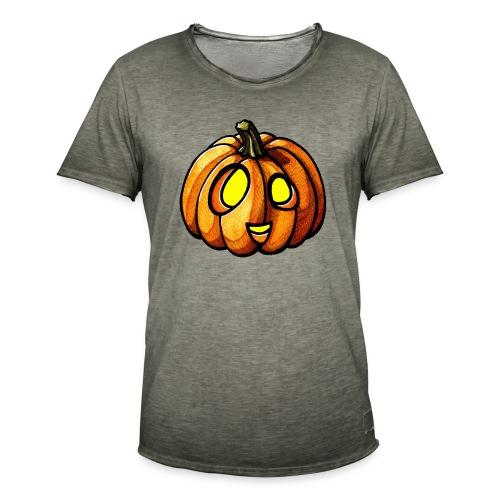 Pumpkin Halloween watercolor scribblesirii - Männer Vintage T-Shirt