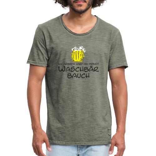 Waschbaerbauch - Männer Vintage T-Shirt
