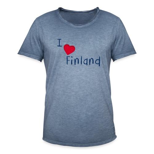 I Love Finland - Miesten vintage t-paita
