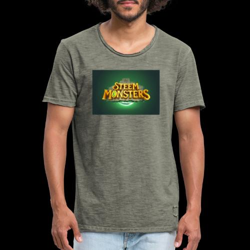 steem monsters - Männer Vintage T-Shirt