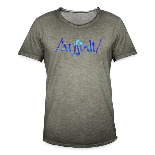 /'angstalt/ logo gerastert (blau/transparent) - Männer Vintage T-Shirt