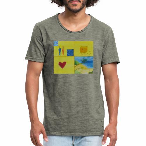 Viererwunsch - Männer Vintage T-Shirt