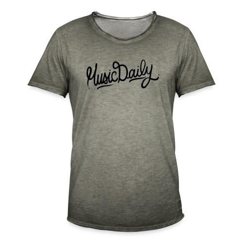 MusicDaily Logo - Mannen Vintage T-shirt