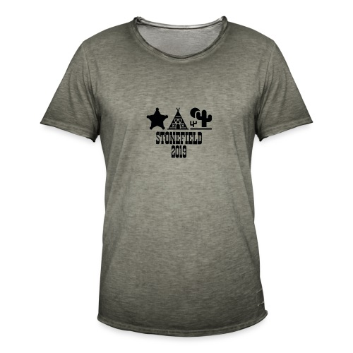 Mottoshirt 2019 - Stonefield - Männer Vintage T-Shirt