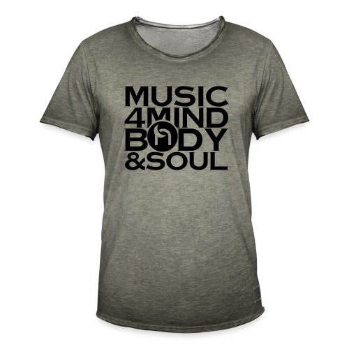 Music 4 Mind, Body & Soul Black - Men's Vintage T-Shirt