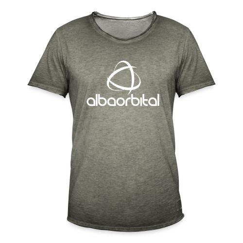 Alba Orbital Logo - White - Men's Vintage T-Shirt