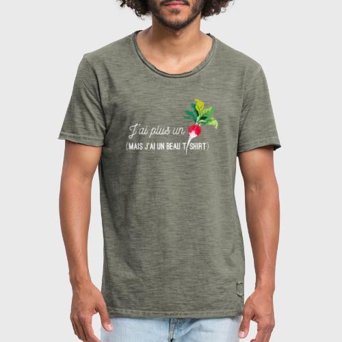 J'ai plus un radis - T-shirt vintage Homme