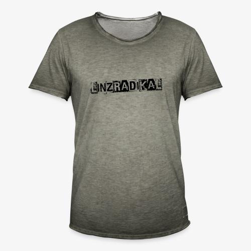 Linzradikal schwarz - Männer Vintage T-Shirt