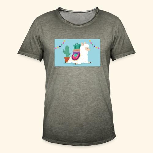 lama / alpaca - Männer Vintage T-Shirt
