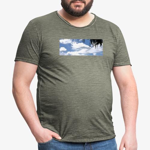 Wolkenlandschaft - Männer Vintage T-Shirt
