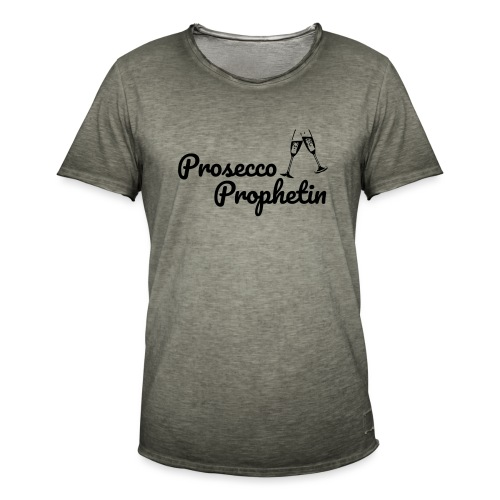 Prosecco Prophetin / Partyshirt / Mädelsabend - Männer Vintage T-Shirt