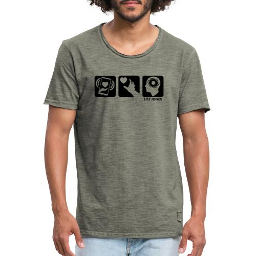 'Carrot Shaped Stick' Horizontal Logos - Men's Vintage T-Shirt