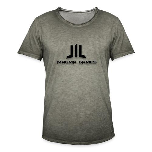 Magma Games sweater grijs met zwart logo - Mannen Vintage T-shirt