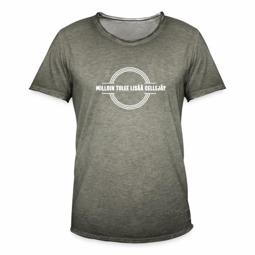 Lisää cellejä valkoinen - Miesten vintage t-paita