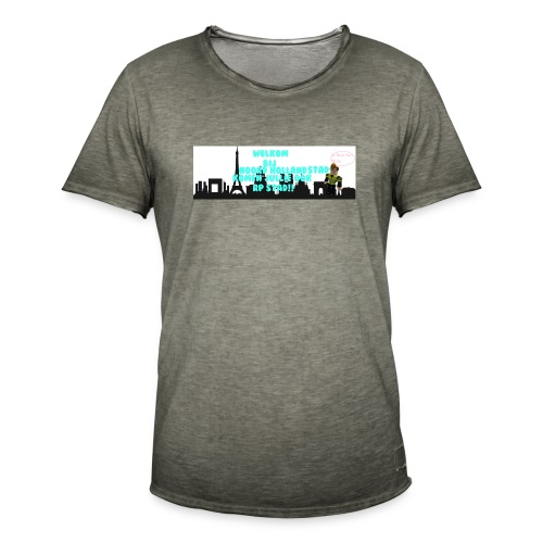 Noord Holland city - Mannen Vintage T-shirt