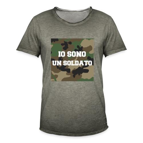 IO SONO UN SOLDATO - Maglietta vintage da uomo