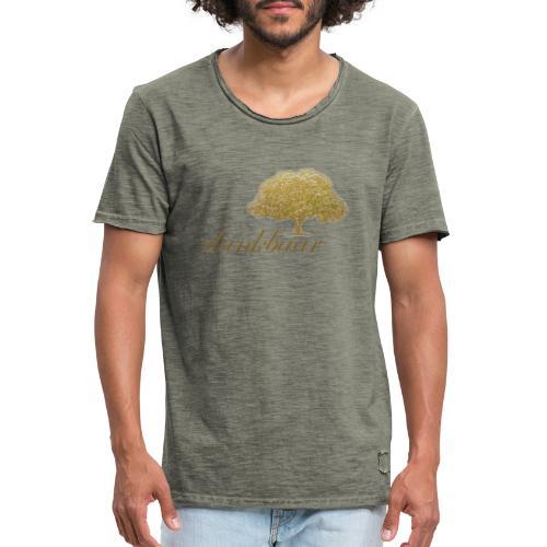 Dankbaar Boom Goud - Mannen Vintage T-shirt
