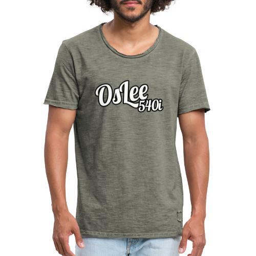 OsLeeLogoschattenGross - Männer Vintage T-Shirt