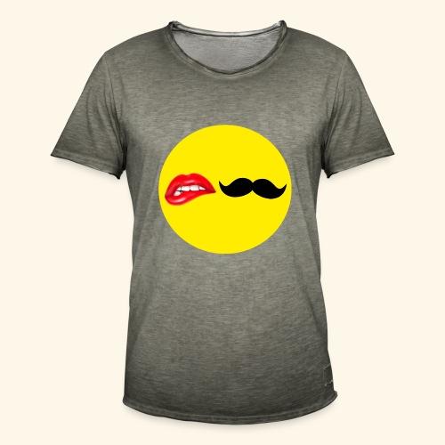 Mustache Lips - Herre vintage T-shirt