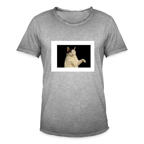 Kitty cat - Mannen Vintage T-shirt