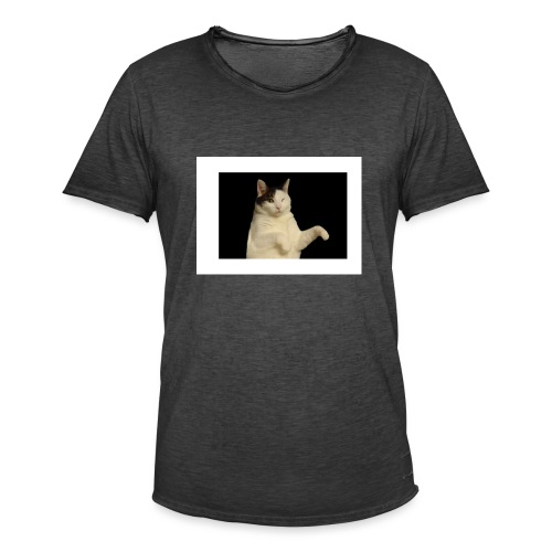 Kitty cat - Mannen Vintage T-shirt