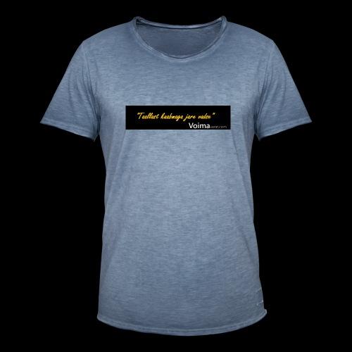 Voimavarat slogani - Miesten vintage t-paita
